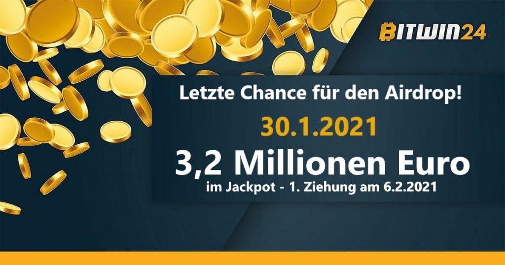 Bitwin24 Erfahrung - Online Lotterie! Letzte Chance für den Airdrop!